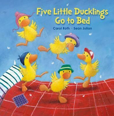 Five Little Ducklings Go to Bed by Carol Roth (English) Hardcover Book Free Ship