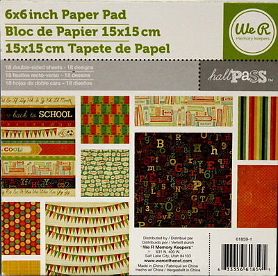 We R Memory Keepers Hall Pass 6x6 Double-sided Scrapbook Paper Pad