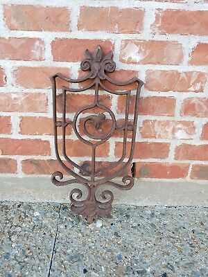 Architectural Salvage Antique Art Nouveau Ornate Cast Iron Scrollwork Rusty