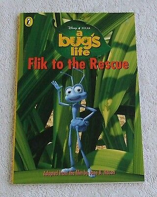 1999 Puffin Paperback Book - Disney Pixar A BUGS LIFE, FLIK TO THE RESCUE