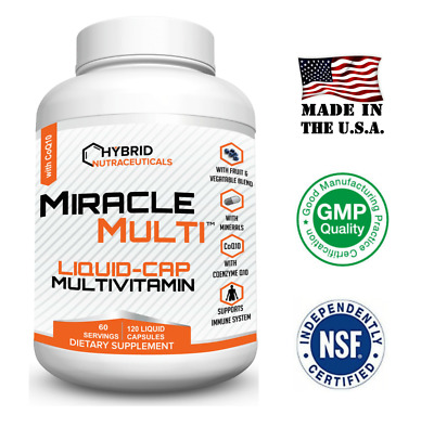 Best Liquid Capsule Multivitamin Mineral Supplement for Men & Women, with CoQ10