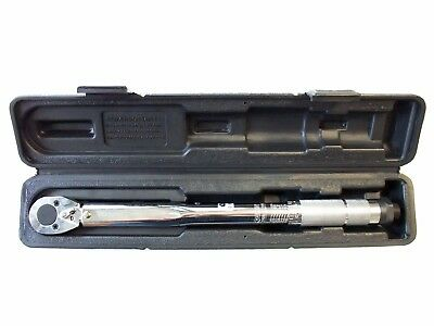 "3/8"" Dr. Click Adjustable Torque Wrench 14-81 Ft/lbs (19-110nm) Taiwan 36cm Dual"