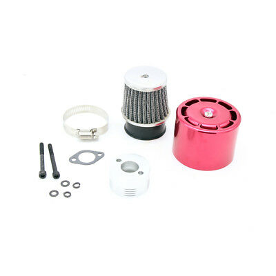 Air filter set with Red Metal cover for 1/5 RC HPI BAJA RV KM 5B 5T 5SC