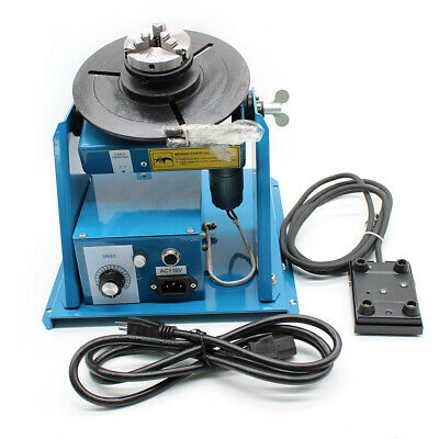 """Rotary Welding Positioner Turntable Table 2.5"""" 3 Jaw Lathe Chuck 2-10 RPM 10KG"""