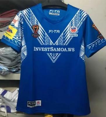 NEW 2018 RWC samoa rugby jersey shirts rugby T shirt tee Size: S-3XL