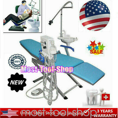 Folding Dental Portable Chair Folding Mobile Stool with LED Light + Turbine Unit
