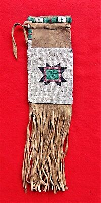 Antique ~ Native American Arapaho Tobacco Bag ~From Ranch Estate