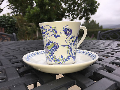 Figgjo Flint Norway LOTTE China Cup Saucer Turi Design Smaller 4 Ounce Size MCM