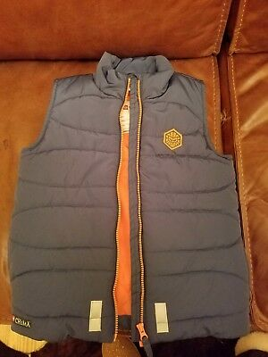 Boys Lego Wear Vest Blue and Orange size 10-12