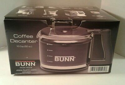 New Bunn 10 Cup Drip Free Glass Coffee Original Replacement NCD-B scratch
