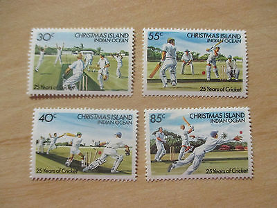 1984   Christmas  Island -25  Years  Of  Cricket- F/set   4  Stamps -Mint  -Mnh