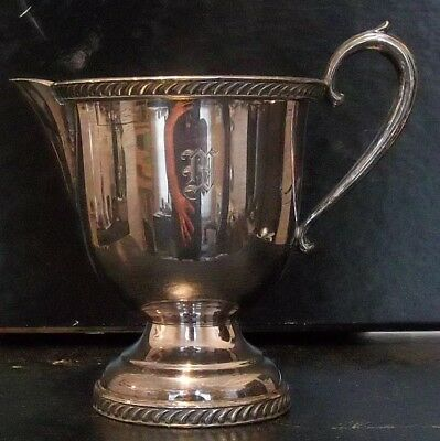 """Vintage Silver Plated Sheets Rockford S Co. 1875 Creamer (Monogrammed """"M"""")"""
