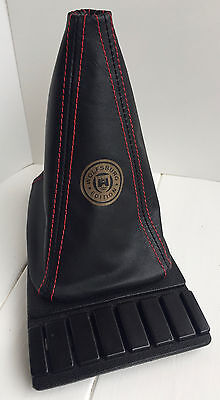 VW Golf MK2 and MK3 Leather Gearstick Gaiter with Laser Etched Wolfsburg Edition