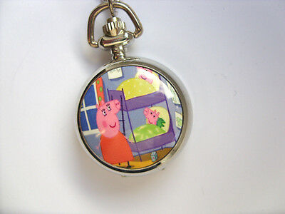 SALE  Great PEPPA PIG Coloured  Necklace Watch / Keyring  SALE    a