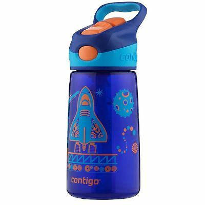 Contigo AUTOSPOUT Striker Kids Straw Water Bottle 14oz Blue Blast Off Leak Proof