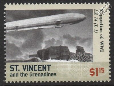 WWI Luftschiff Zeppelin LZ.14 (L.1) H-Class German Airship Stamp