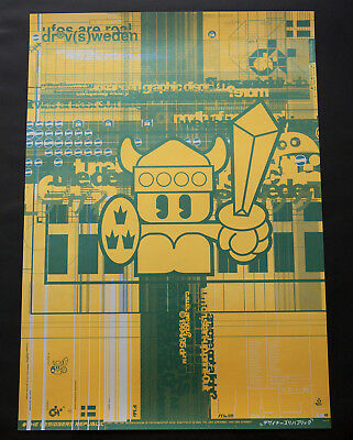 The Designers Republic Viking A3 Original Poster - Excellent Condition - Rare