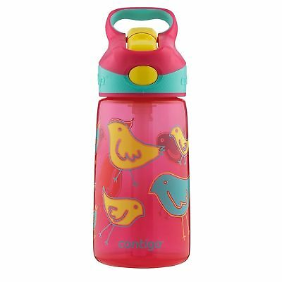 Contigo AUTOSPOUT Striker Kids Straw Water Bottle 14oz Cherry Blossom Bird Graph