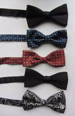 choice of vintage mens bow ties pre tied steam punk black tie