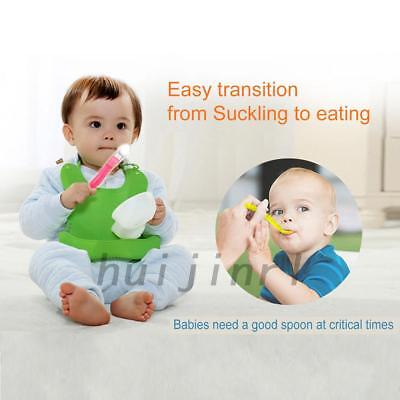 Silicone Baby Infant Toddler Feeding Spoon Flexible Feeder Tools Utensils