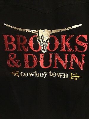 Brooks And Dunn Cowboy Town Black Jean Jacket Men's Small