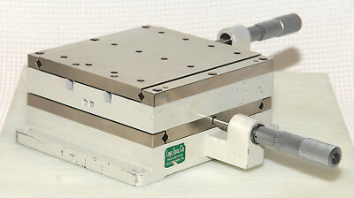 """Line Tool 0102RH Precision Linear XY X/YStage 2"""" x 2"""" Travel with 1"""" Micrometers"""