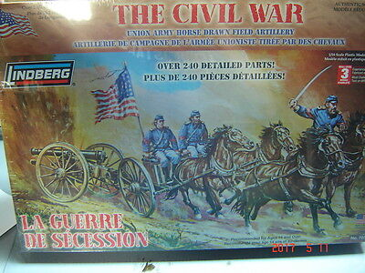 Lindberg 1:16 scale The Civil War Union Army Horse Drawn Artillery Confederate