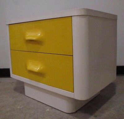 RAYMOND LOEWY STYLE BROYHILL NIGHTSTAND mid century chapter one space age