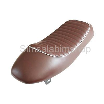 Cafe Racer Retro Hump Brown Seat Waterproof Universal for Motorcycle