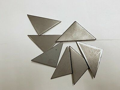 """*Look* 50 - 3/16"""" steel plate weld gusset triangles 2.5"""" x 2.5"""" x .1875"""" A36"""