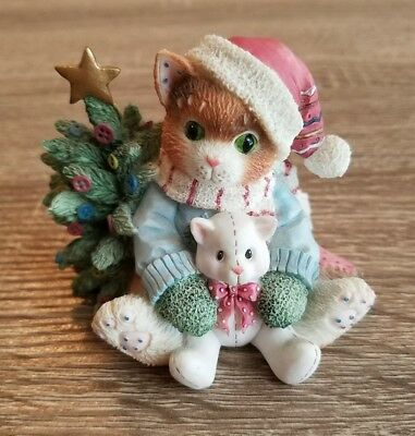 Enesco Calico Kittens Figurine - We Wish You A Merry Christmas - 932418