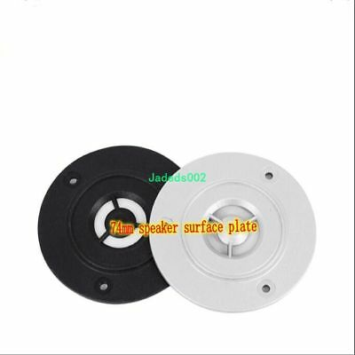 2pcs 74mm Tweeter panel Loudspeaker plastic protection panel Black / silver gray