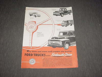 Ford trucks with fordomatic drive brochure 1956