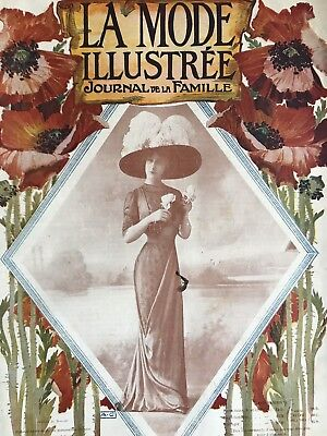 ORIGINAL French MODE ILLUSTREE Sewing patterns -tracings- July 24,1910
