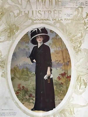 ORIGINAL French MODE ILLUSTREE Sewing patterns -tracings- Sept 11 & 18,1910