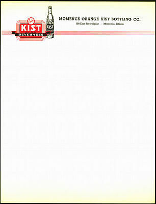 1950's Kist Beverages Letterhead Free Shipping !