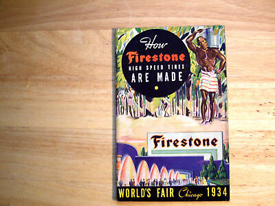 How Firestone High Speed Tires Are Made World's Fair Chicago 1934 Booklet