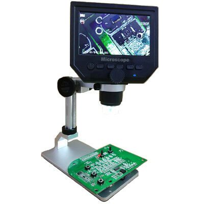 Mustool G600 Digital 1-600X 3.6MP 4.3inch HD LCD Display Microscope Continuous M