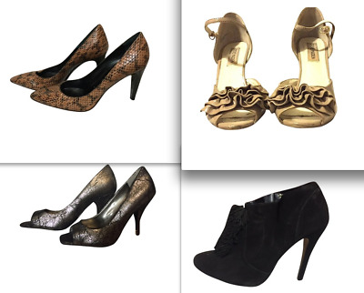 LOT 3 pairs of WOMEN Shoes+ 1 pair of Boots. Size 8.5