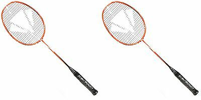 Special Offer! 2 x CARLTON BADMINTON RACKETS AIR RAGE RED 87 grams Light 113293
