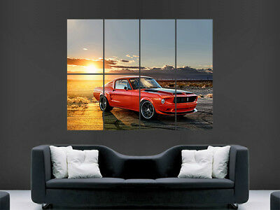 CAR POSTER AB253 Photo Picture Poster Print Art A0 to A4 FORD MUSTANG SPEED