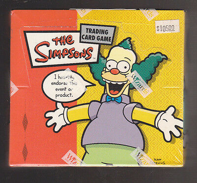 The Simpsons Booster Pack Box Sealed Ccg Wizards Of The Coast