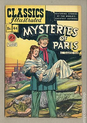Classics Illustrated 044 Mysteries of Paris 1A 1947 VG- 3.5