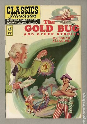 Classics Illustrated 084 The Gold Bug and Other Stories #2 1964 FN- 5.5