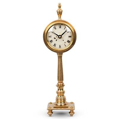 The Victoria Antique Replica Table Clock English Look Pedestal - The Kings Bay
