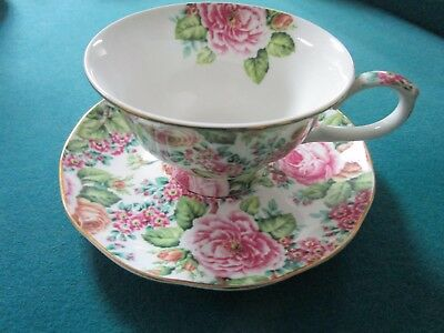 Edwardian Collection England Floral Cup And Saucer [102D]