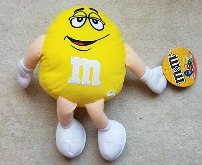 2016 Licensed Yellow M&M's Stuffed Plush Character Toy - 13in.