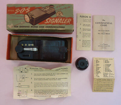 Boy Scouts Sos Morse Code Signaler No. 1212 - Fleron - 1940's-1950's - With Box