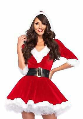 Mrs. Claus Clothes CHRISTMAS 2017 Leg Avenue Women's 2 Piece Costume NEW YEAR