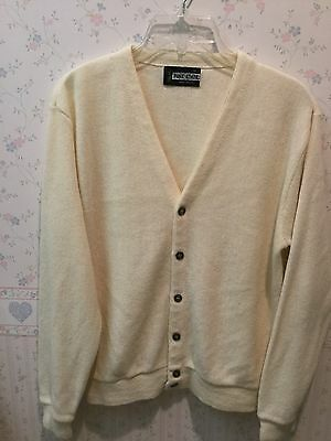 7b8bd0e17f Vintage Golf Sweater - Cream Off White - Size M - Long Sleeve - Pine State